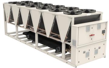Koudwatermachines met inverter schroefcompressoren en koudemiddel R513A